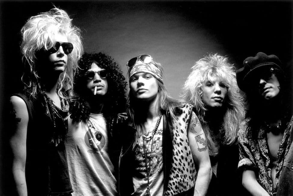 Van Para exposição Guns N'Roses