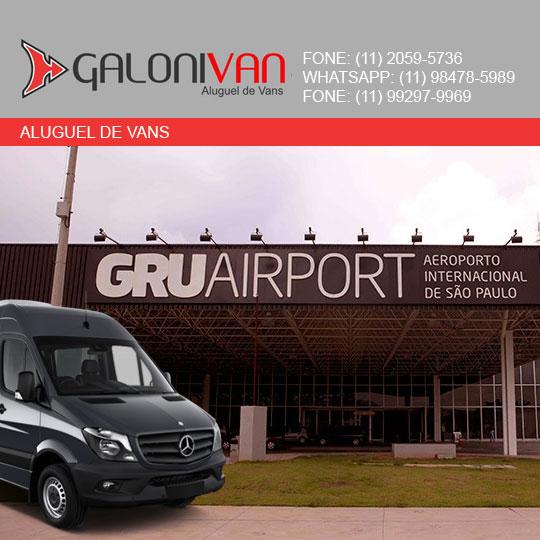 Van para aeroporto de Guarulhos