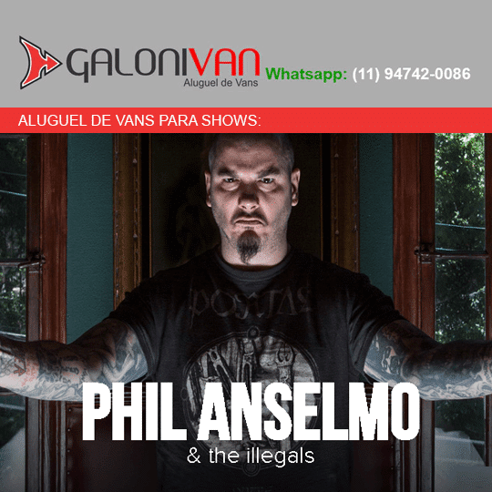 Van para Show do phil anselmo