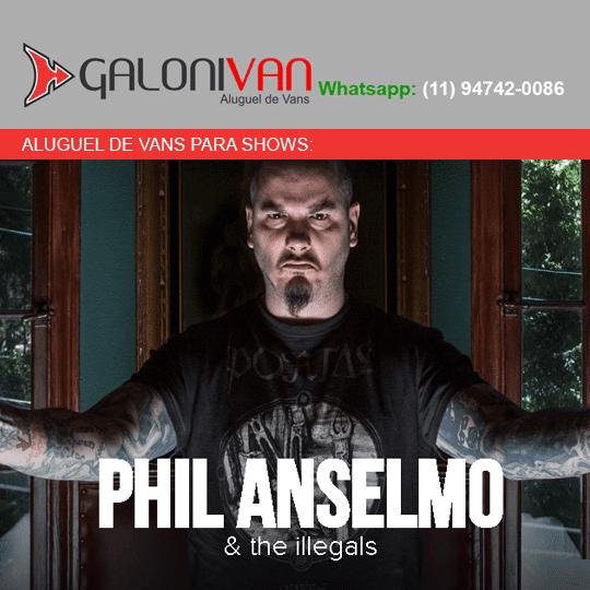 Van para Show do phil anselmo