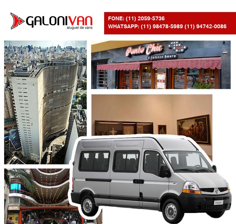 Van no centro de São Paulo