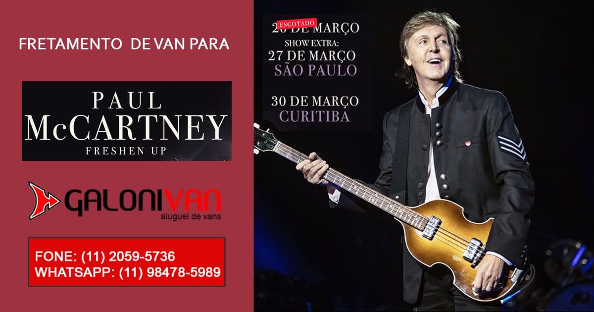 Van Para Show do Paul McCartney
