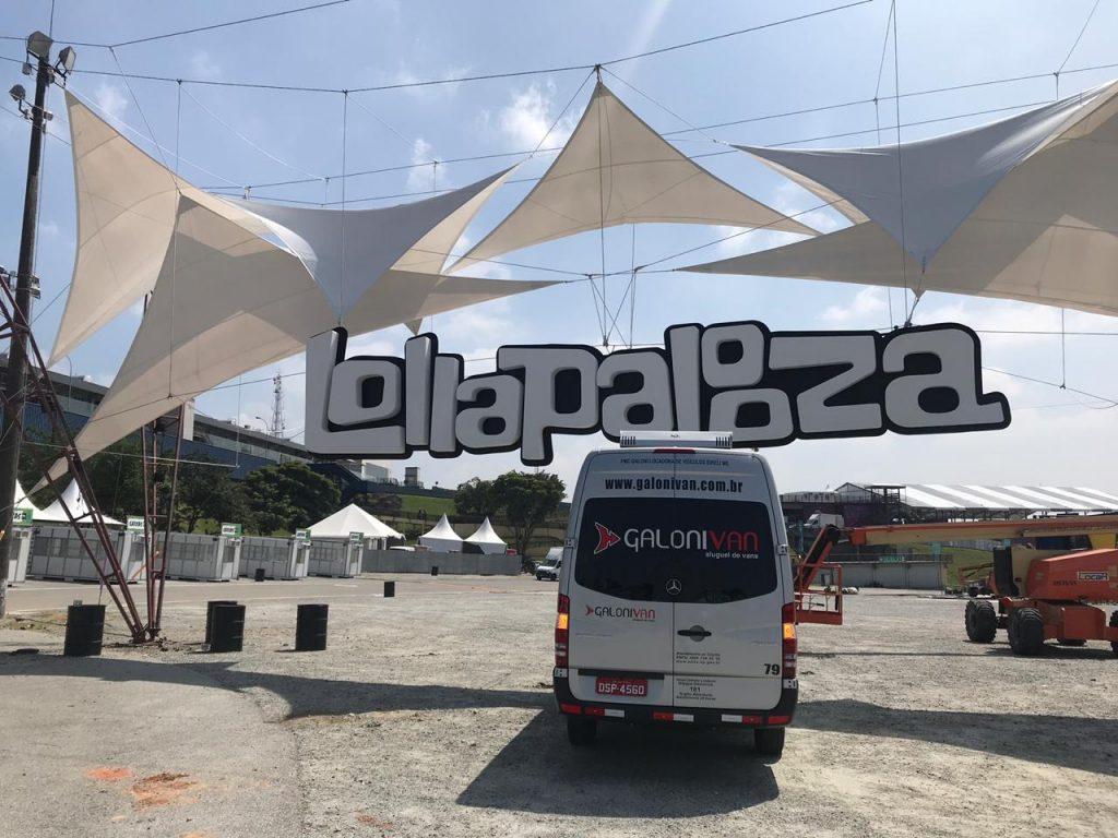 van para shows Lollapalooza