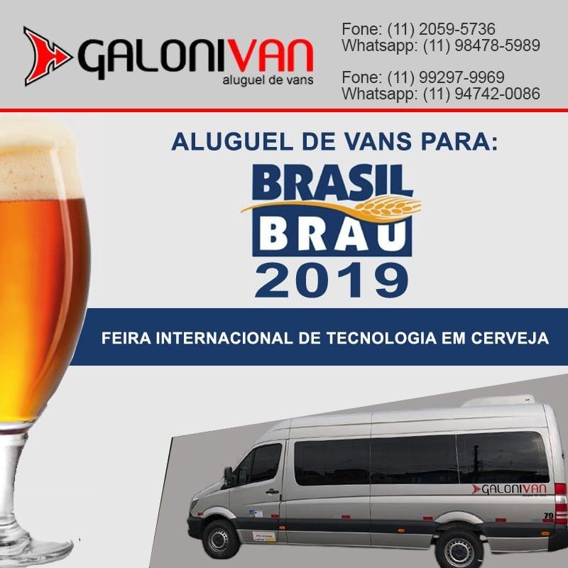 Aluguel de Vans para Brasil Brau