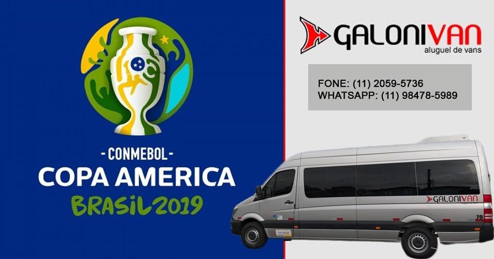 Aluguel de van para copa América