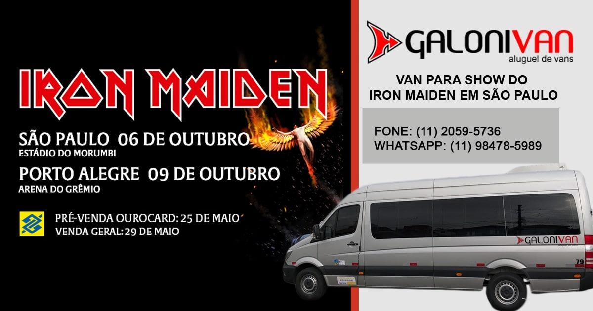 Van Para Show do Iron Maiden