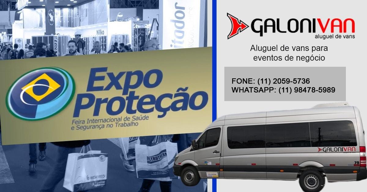 Aluguel de Van para expo proteção