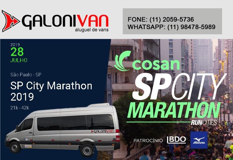 Van para SP City Marathon em São Paulo