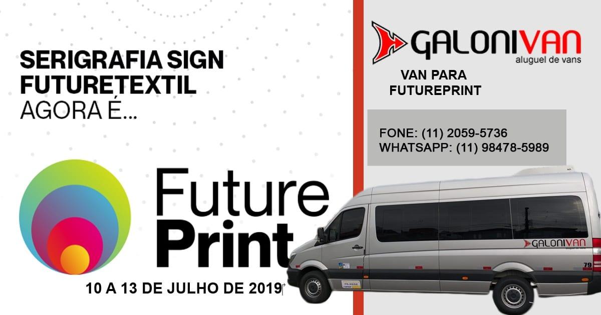 Aluguel de van para Futureprint