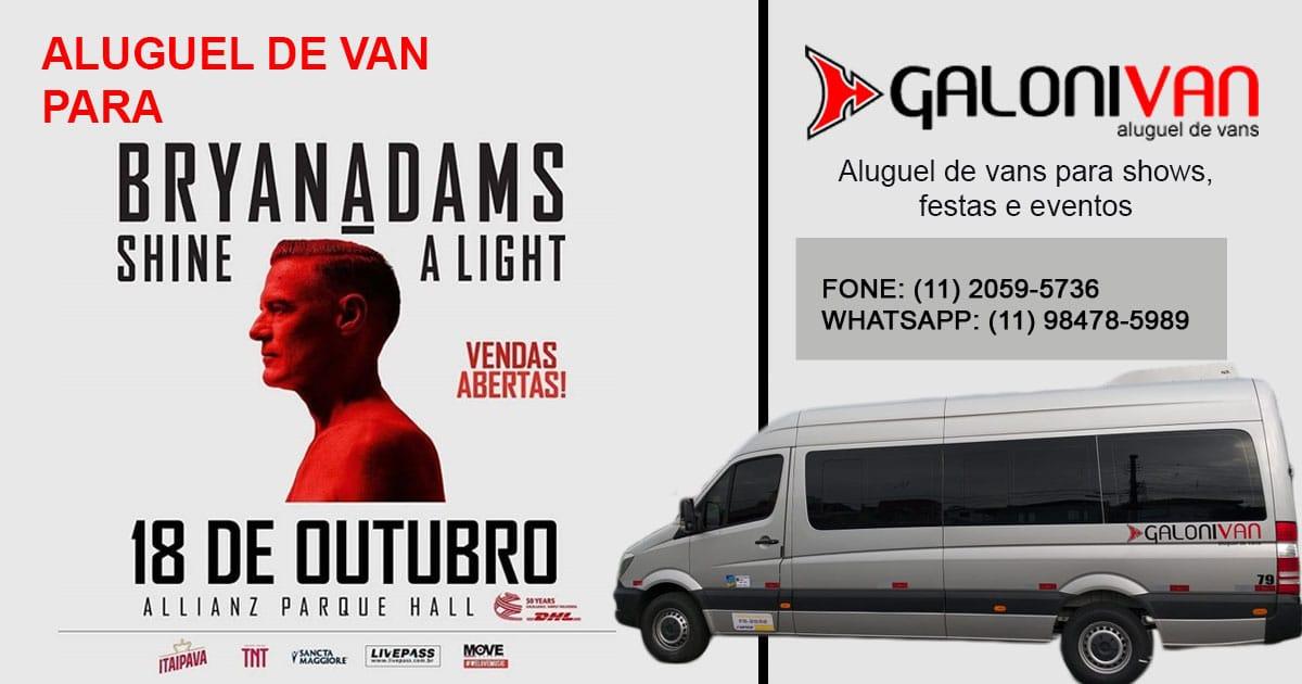 Show do Bryan Adams vans