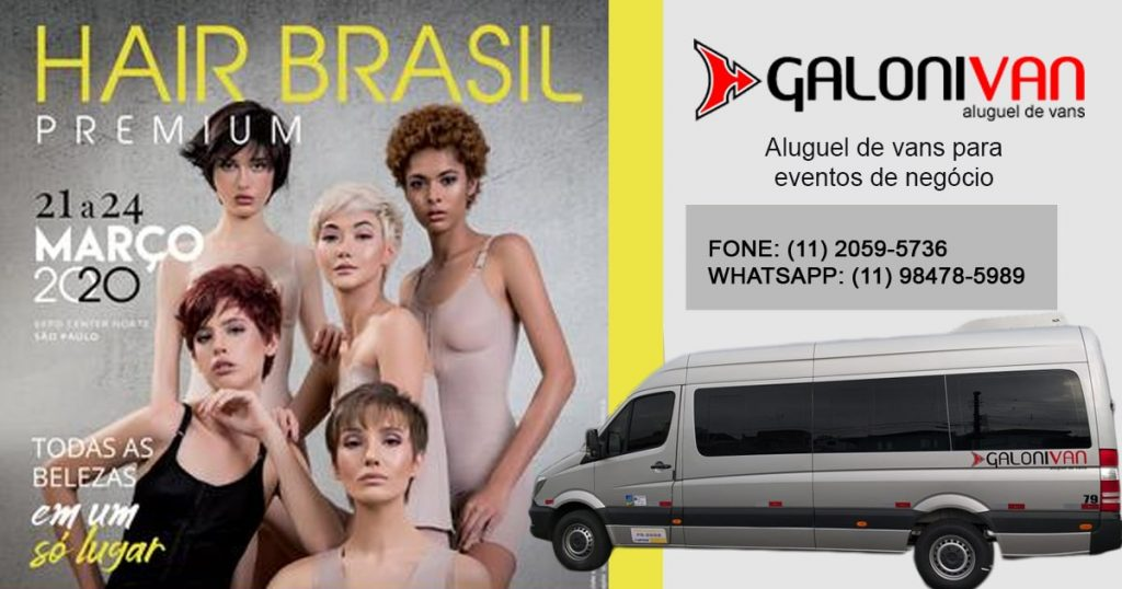 Aluguel de van para o Hair Brasil
