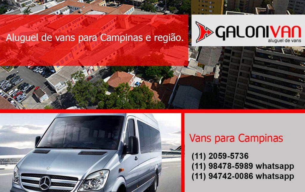 Aluguel de van em Campinas.