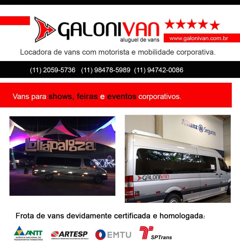 van para shows e eventos