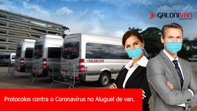 Protocolos contra o Coronavírus no Aluguel de van.