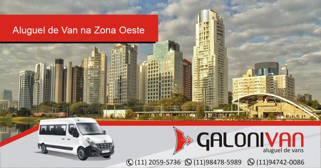 Aluguel de van na Zona Oeste de São Paulo.