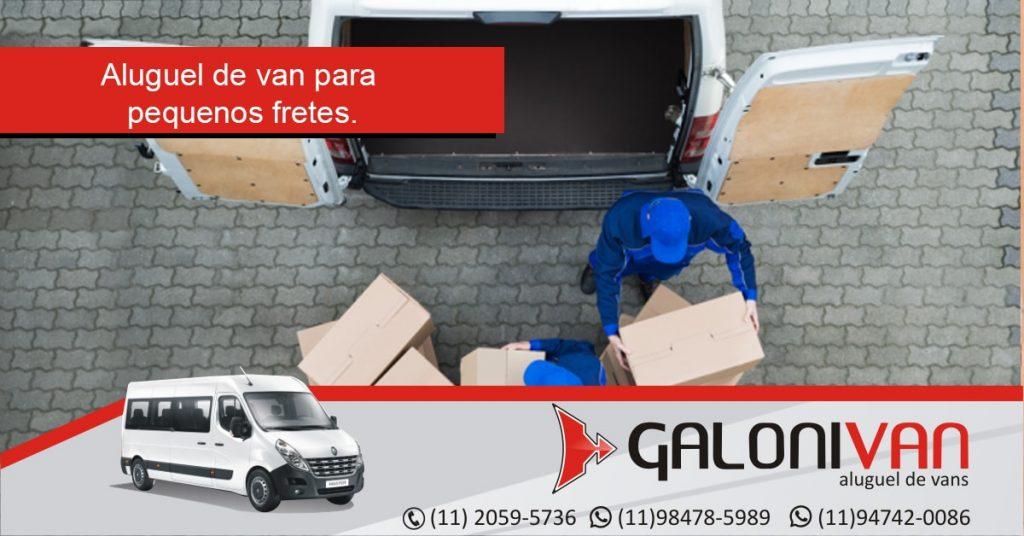 Aluguel de vans para transporte de cargas