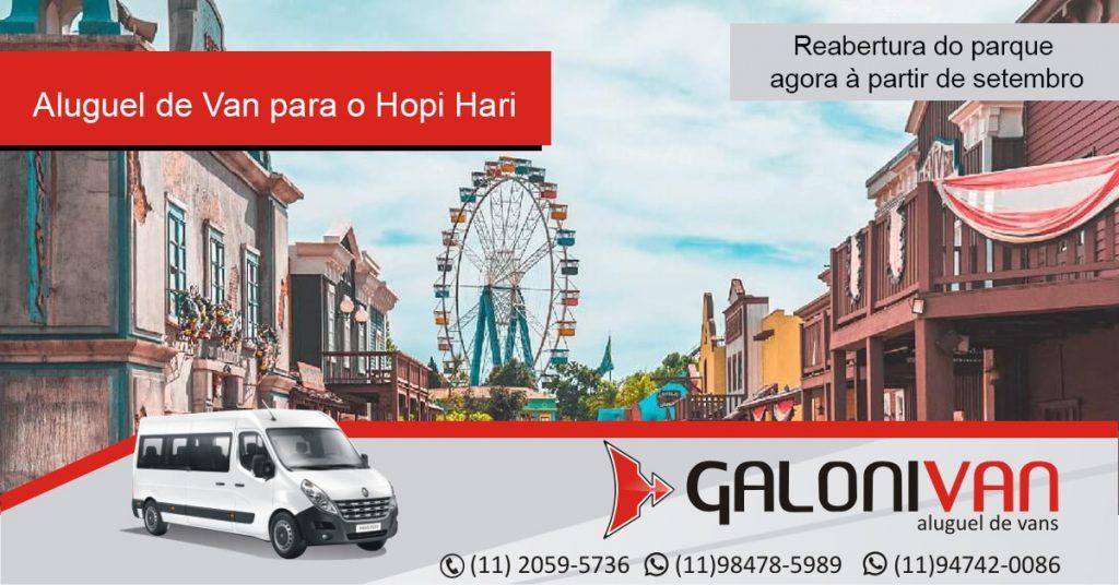 Aluguel de Van para o Hopi Hari com a Galoni