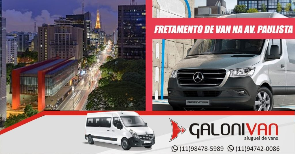 Fretamento de van na Avenida Paulista