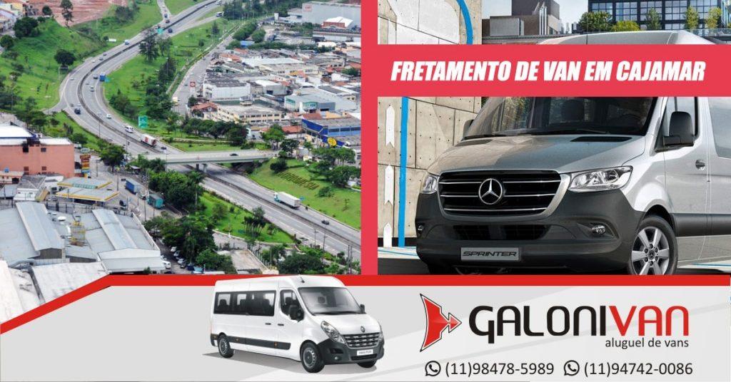 Fretamento de Van em Cajamar.