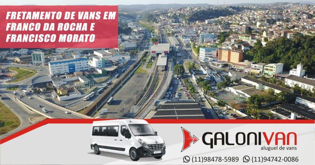 Fretamento de Van em Franco da Rocha e Francisco Morato