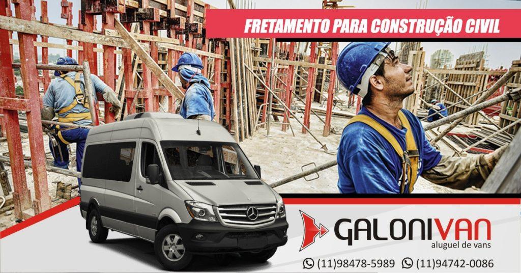 Locação de van para construção civil