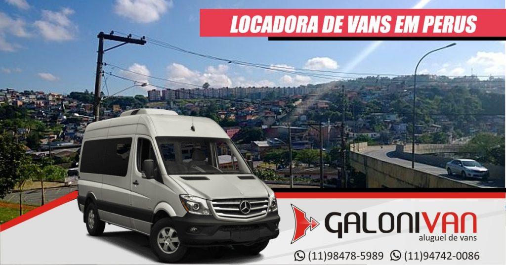 Locadora de vans em Perus