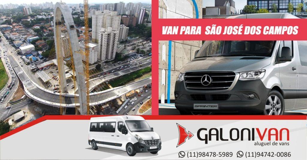 Aluguel de van para São José dos Campos.